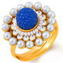 Sukkhi Exotic Gold Plated Ring - Blue