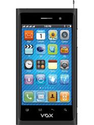VOX 4 SIM Full Touch Screen Ultra Slim Mobile with TV - V810 - Black