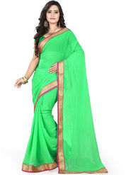 Viva N Diva Chiffon Lace Border Saree 10094-Peacock-Vol-02