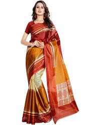 Viva N Diva Printed Taffeta Saree -11042-Pooja