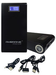 Ambrane Power Bank P-1500 (15600mAh) - Black