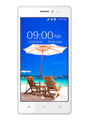 Lava A59 Lollipop 5.1 Quad Core Smart Music Phone (White)