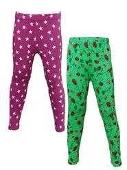 Pack of 2 Little Star Girl's Multicolor Leggings - PG_3207