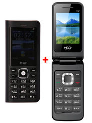 Combo of Trio Superphone cum Powerbank( Black) + Trio Flip Phone (Black)