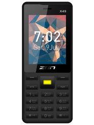 ZEN X49 Dual SIM Feature phone (Black Yellow)