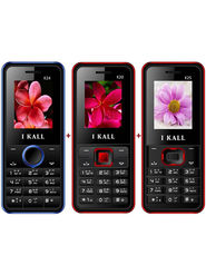 Combo of I KALL K20 (Black & Red) + I KALL K24 with Leather Cover (Blue) +  KALL K25 with Leather Back (Black & Red) Feature Phone