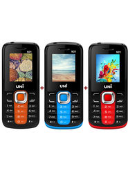 Combo of Uni N21 Feature Mobile (Orange Black) + Uni N2 (Red Black) + Uni N21 (Blue Black) Feature Phone