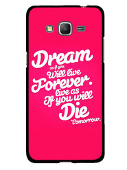 Snooky Designer Print Hard Back Case Cover For Samsung Galaxy Core Prime G360H - Rose Pink