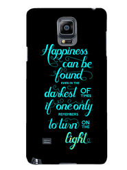 Snooky Designer Print Hard Back Case Cover For Samsung Galaxy Note 4 - Black
