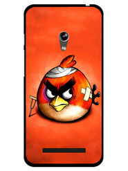 Snooky Designer Print Hard Back Case Cover For Asus Zenfone 4.5 - Orange