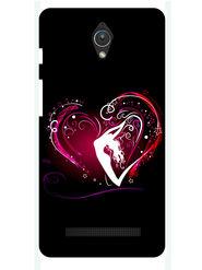 Snooky Designer Print Hard Back Case Cover For Asus Zenfone C ZC451CG - Black