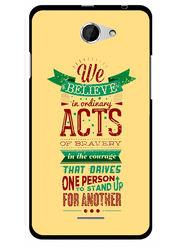 Snooky Designer Print Hard Back Case Cover For HTC Desire 516 - Cream