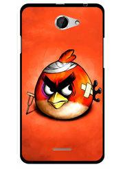 Snooky Designer Print Hard Back Case Cover For HTC Desire 516 - Orange
