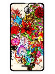 Snooky Designer Print Hard Back Case Cover For Lenovo A5000 - Multicolour