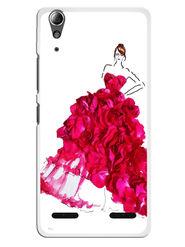 Snooky Designer Print Hard Back Case Cover For Lenovo A6000 - Pink