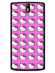 Snooky Designer Print Hard Back Case Cover For OnePlus One - Pink