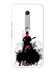Snooky Designer Print Hard Back Case Cover For Motorola Moto X Play - Black