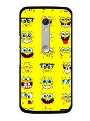 Snooky Designer Print Hard Back Case Cover For Motorola Moto X Play - Yellow