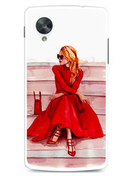 Snooky Designer Print Hard Back Case Cover For LG Google Nexus 5 - Red