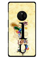 Snooky Designer Print Hard Back Case Cover For Nokia Lumia 830 - Cream