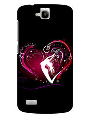 Snooky Designer Print Hard Back Case Cover For Huawei Honor Holly - Black