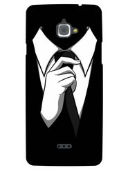 Snooky Designer Print Hard Back Case Cover For InFocus M530 - Black