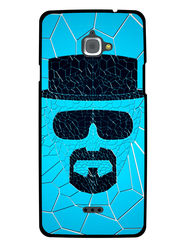 Snooky Designer Print Hard Back Case Cover For InFocus M530 - Blue