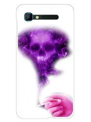 Snooky Designer Print Hard Back Case Cover For Intex Aqua Y2 pro - Purple