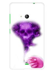 Snooky Designer Print Hard Back Case Cover For Microsoft Lumia 535 - Purple