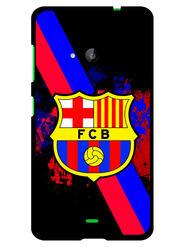Snooky Designer Print Hard Back Case Cover For Microsoft Lumia 535 - Black