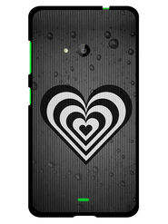 Snooky Designer Print Hard Back Case Cover For Microsoft Lumia 535 - Grey