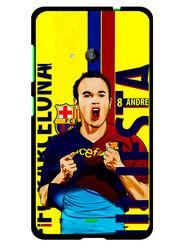 Snooky Designer Print Hard Back Case Cover For Microsoft Lumia 535 - Yellow