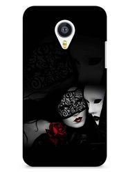 Snooky Digital Print Hard Back Case Cover For Meizu MX4 - Black