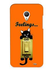 Snooky Digital Print Hard Back Case Cover For Meizu MX3 - Orange