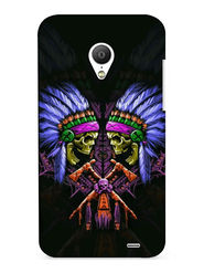 Snooky Digital Print Hard Back Case Cover For Meizu MX3 - Black