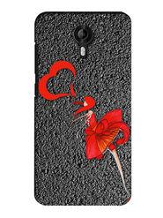 Snooky Digital Print Hard Back Case Cover For Micromax Canvas Nitro 3 E455 - Grey