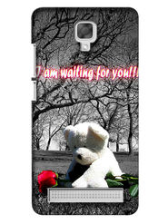 Snooky Digital Print Hard Back Case Cover For Micromax Bolt Q331 - Grey