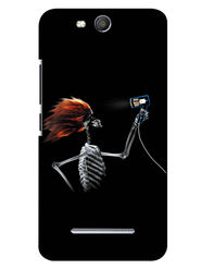 Snooky Digital Print Hard Back Case Cover For Micromax Canvas Juice 3 Q392 - Black