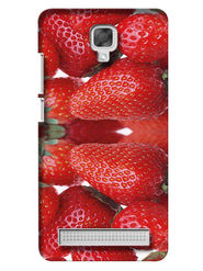Snooky Digital Print Hard Back Case Cover For Micromax Bolt Q331 - Red