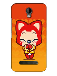 Snooky Digital Print Hard Back Case Cover For Micromax Bolt Q335 - Orange