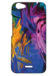 Snooky Digital Print Hard Back Case Cover For Micromax Bolt Q338 - Blue
