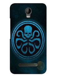 Snooky Digital Print Hard Back Case Cover For Micromax Bolt Q335 - Blue