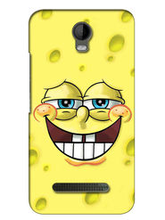 Snooky Digital Print Hard Back Case Cover For Micromax Bolt Q335 - Yellow