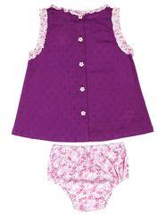 ShopperTree Solid Purple Cotton Twin sets -ST-1651_6-12M