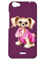 Snooky Digital Print Hard Back Case Cover For Micromax Bolt Q338 - Purple