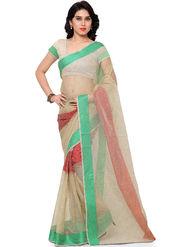 Viva N Diva Plain Banarasi Silk Beige Saree -vs16