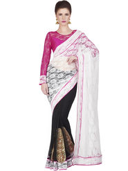 Designersareez Jacquard Net Embroidered Saree -1830