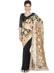 Designersareez Jacquard Net Embroidered Saree -1831