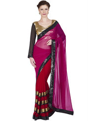 Designersareez Faux Georgette Embroidered Saree -1895