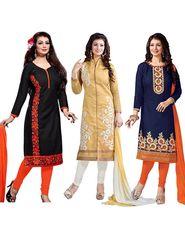 Pack of 3 Thankar Designer Unstitched Dress Material-tha02